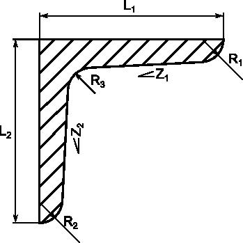 Profil kątownika rysowanego przez makro
