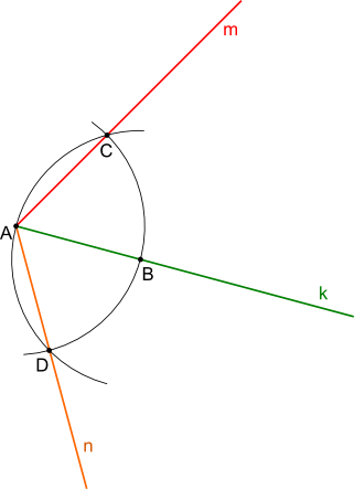 Konstrukcja kreślenia kąta 120°