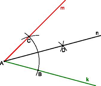 Konstrukcja kreślenia kąta 30°