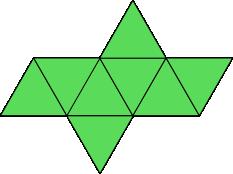 Siatka ośmiościanu foremnego - wersja 2