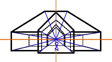 Ilustracja obiektu w perspektywie centralnej