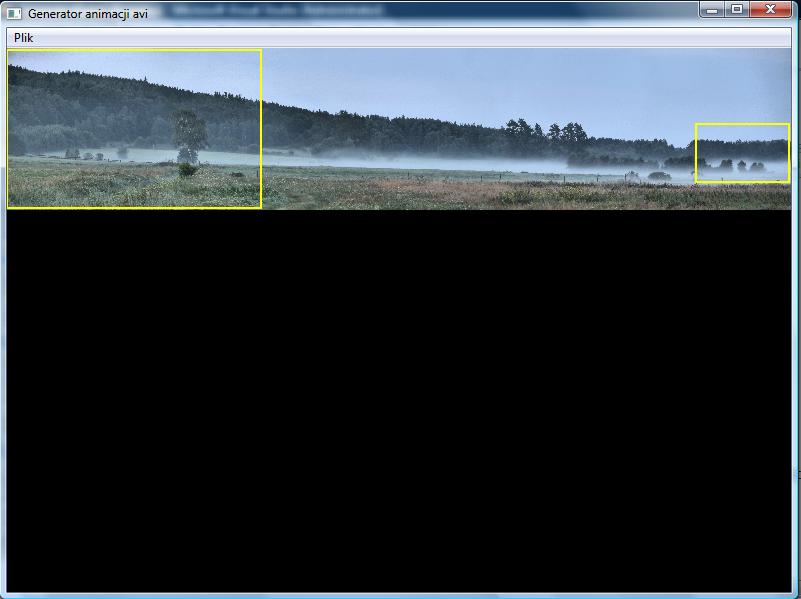 Screen programu tworzącego animacje AVI.