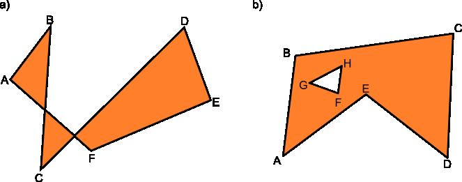 Przykłady wielokątów złożonych