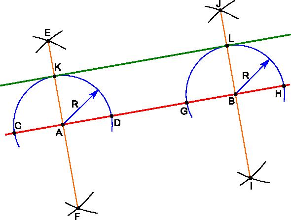 Kreślenie linii równoległej.