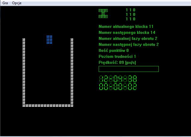 Screenshot strzelanki napisanej w C++