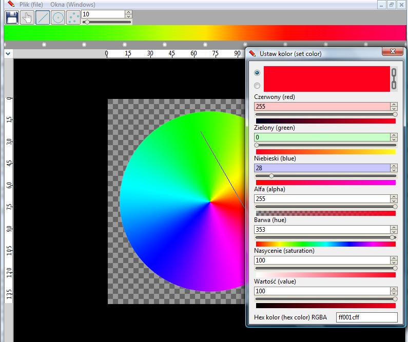 Widok okna programu ChangeImage.exe w wersji 1.0.1.2