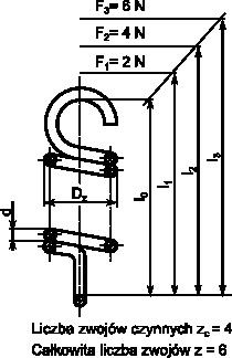 Rysunek szczegółowy sprężyny naciągowej