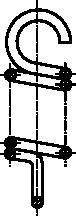 Rysunek uproszczony sprężyny naciągowej
