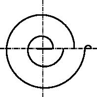 Rysunek schematyczny sprężyny spiralnej