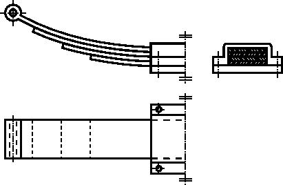 Rysunek szczegółowy sprężyny wielopłytkowej
