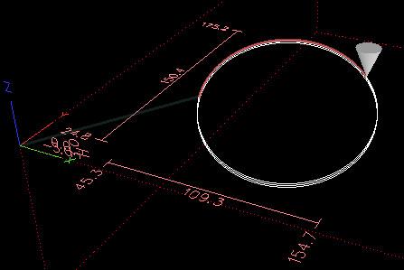 Przykład symulacji wycinania otworu eliptycznego przeprowadzona w programie LinuxCNC