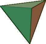 Ilustracja czworościanu foremnego (tetraedr-u)