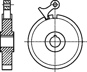 Rysunek techniczny zapadki dwukierunkowej